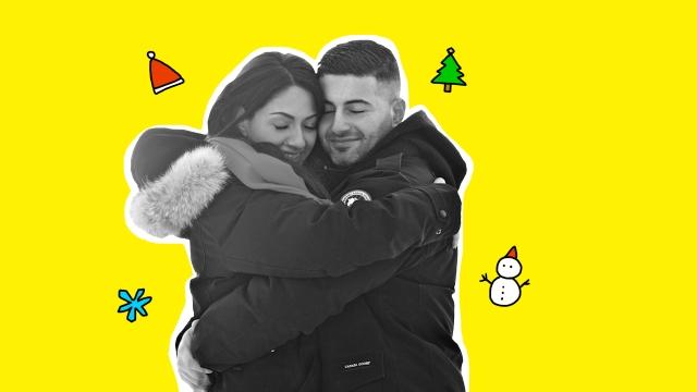 abrazo navidad